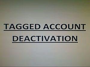 my tagged account got canceled